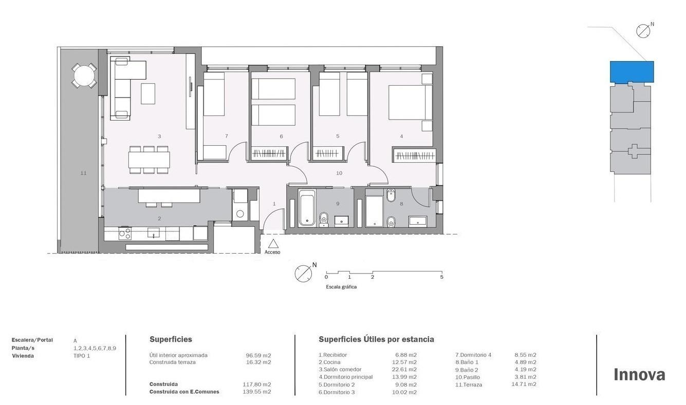 plano de piso promoción innova