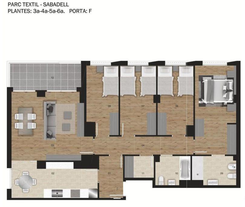 plano de piso nuevo en sabadell