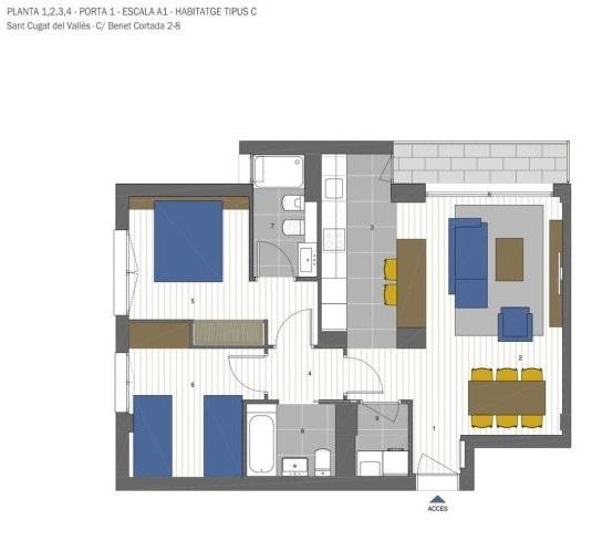 plano de piso de obra nueva crecca volpelleres