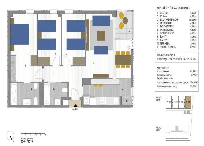 plano de piso de residencial plaça primavera