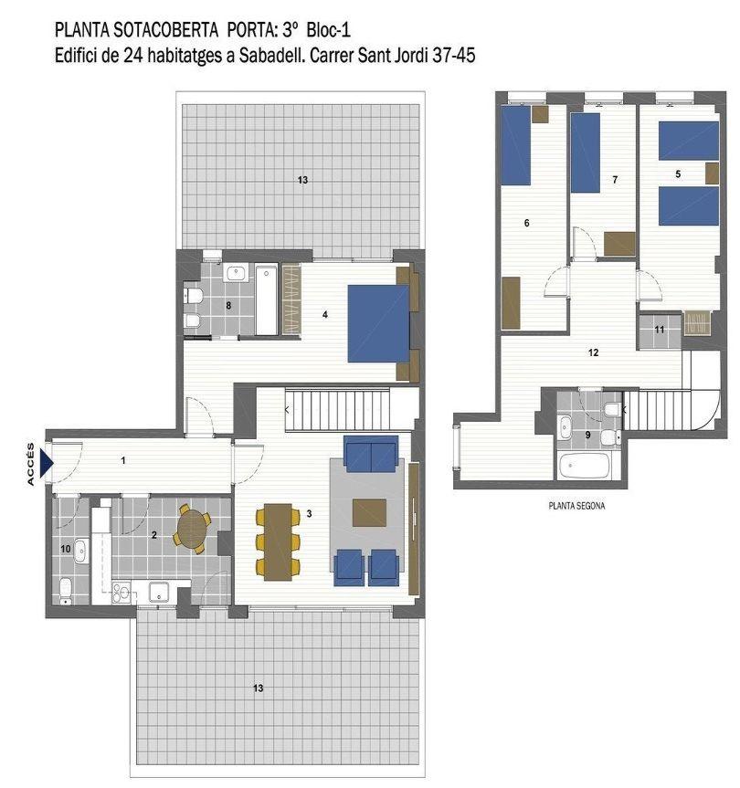 plano de vivienda a estrenar en sabadell