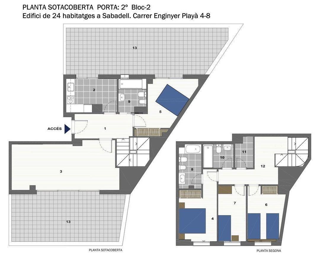 plano de vivienda de primera mano en promocion nova gracia