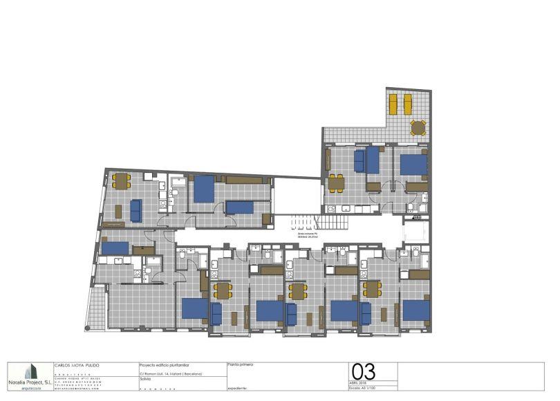 plano de piso de obra nueva en Mataró