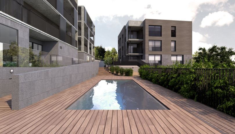 pisos de lujo con piscina comunitaria en sant cugat