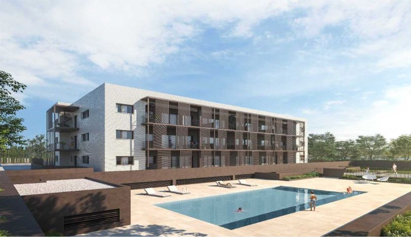 pisos de obra nueva con piscina comunitaria en sitges