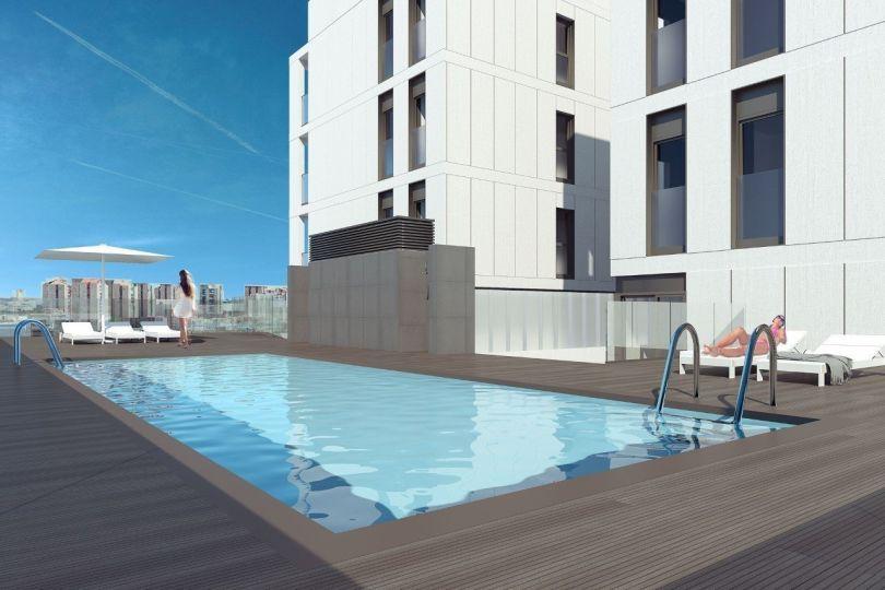 pisos nuevos con piscina comunitaria en hospitalet