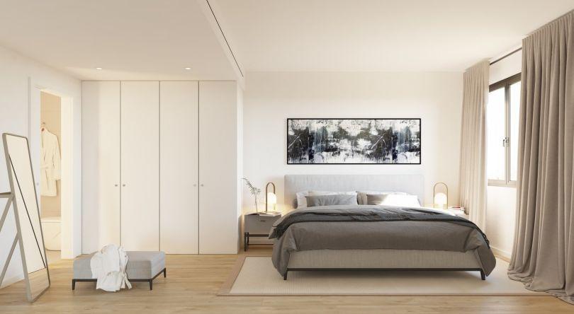 dormitorio de piso de obra nueva en sitges