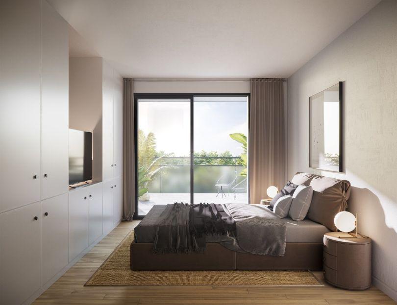 dormitorio de vivienda de primera mano en sitges
