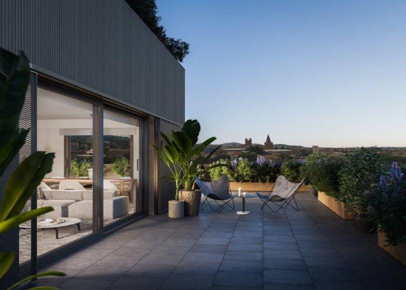 terraza en piso de lujo en sarria