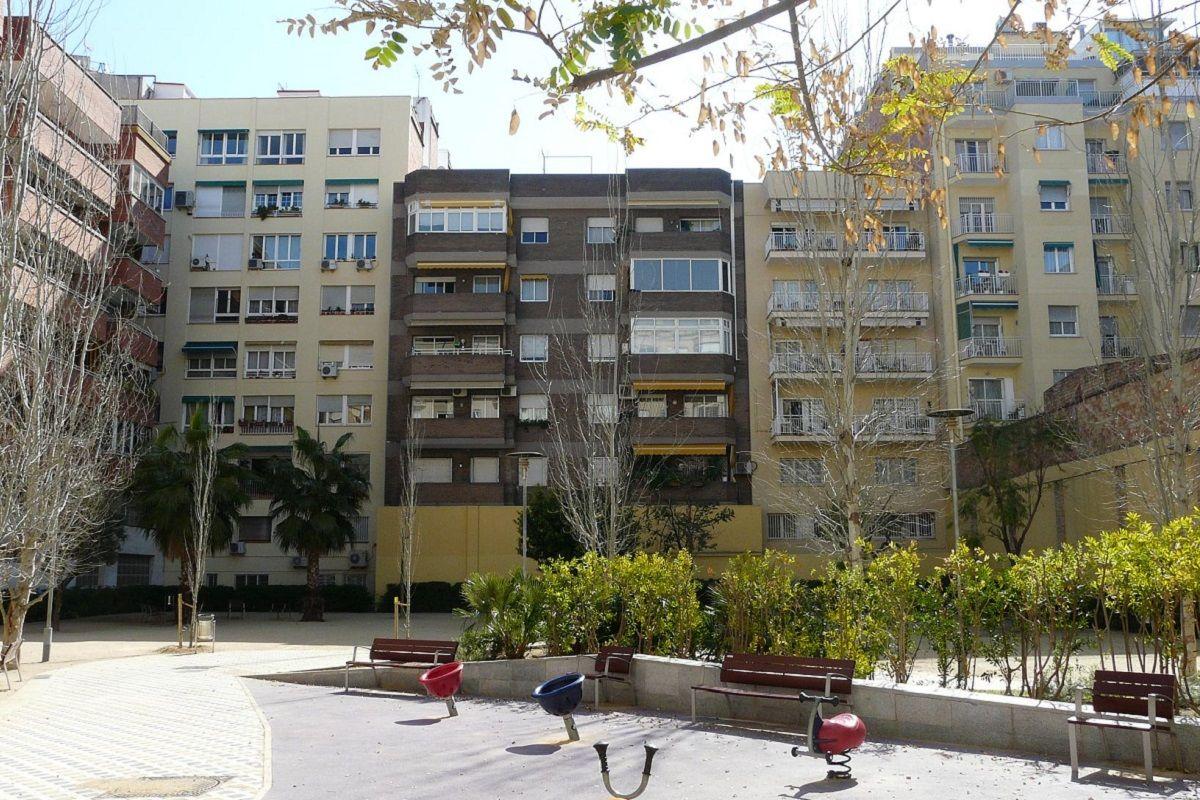 interiores de manzana en el barrio de Sant Antoni